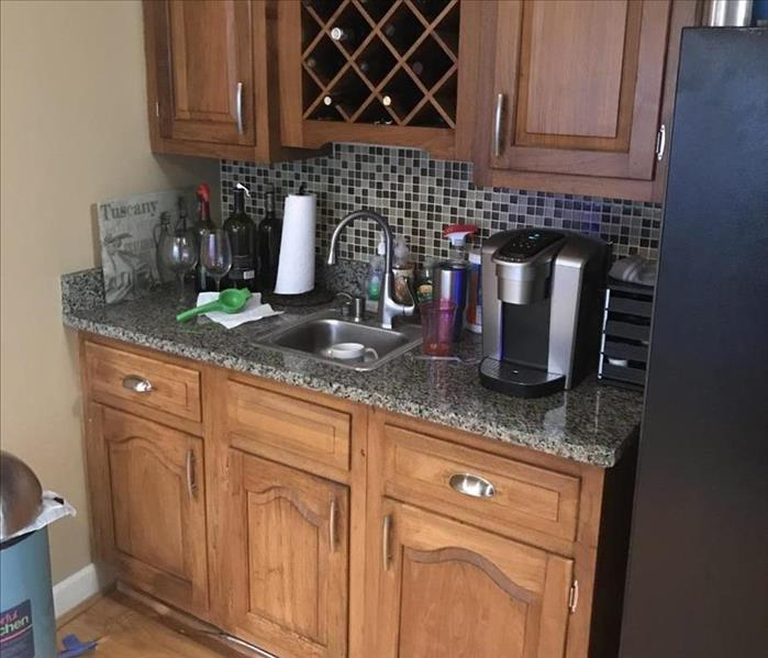 Kitchen counter and drawers