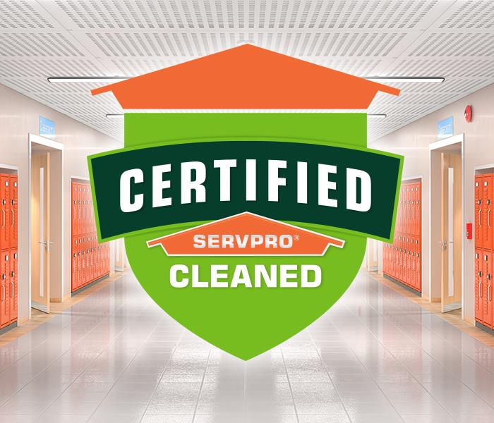 Certified: SERVPRO Cleaned decal